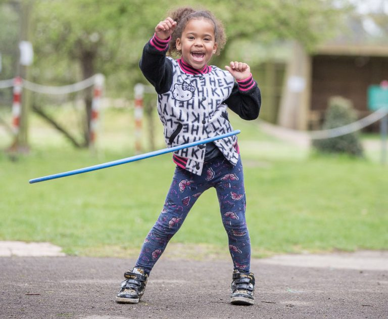 Hula Hoop garden activity