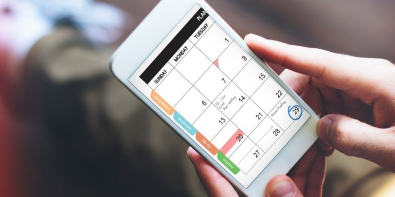 Calendar on mobile phone