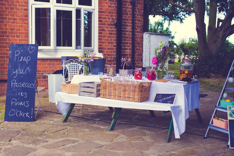 Cardfields wedding table