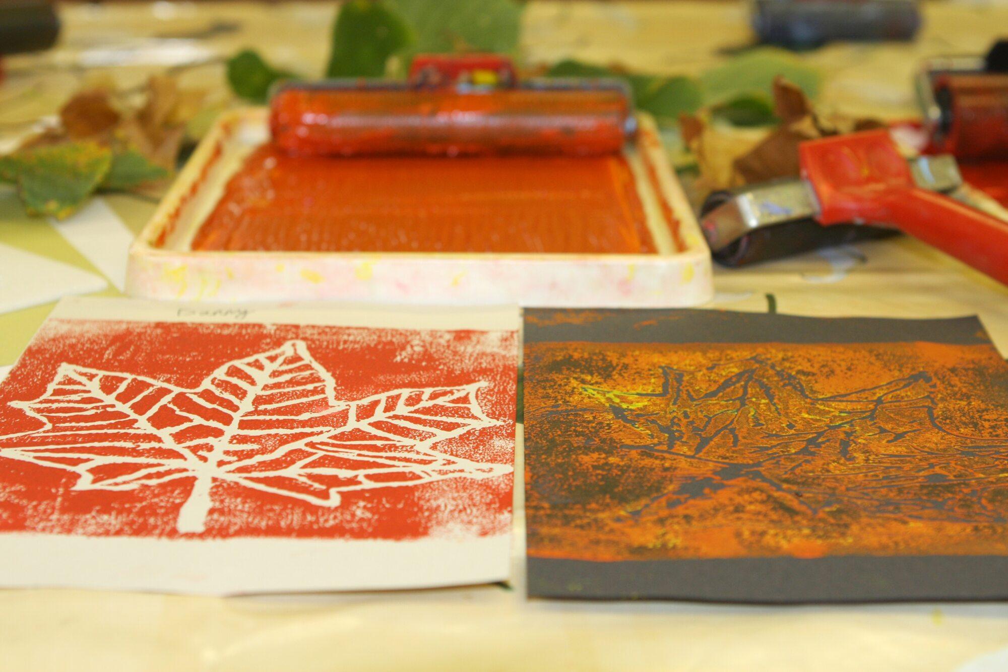 Cardfields block printing