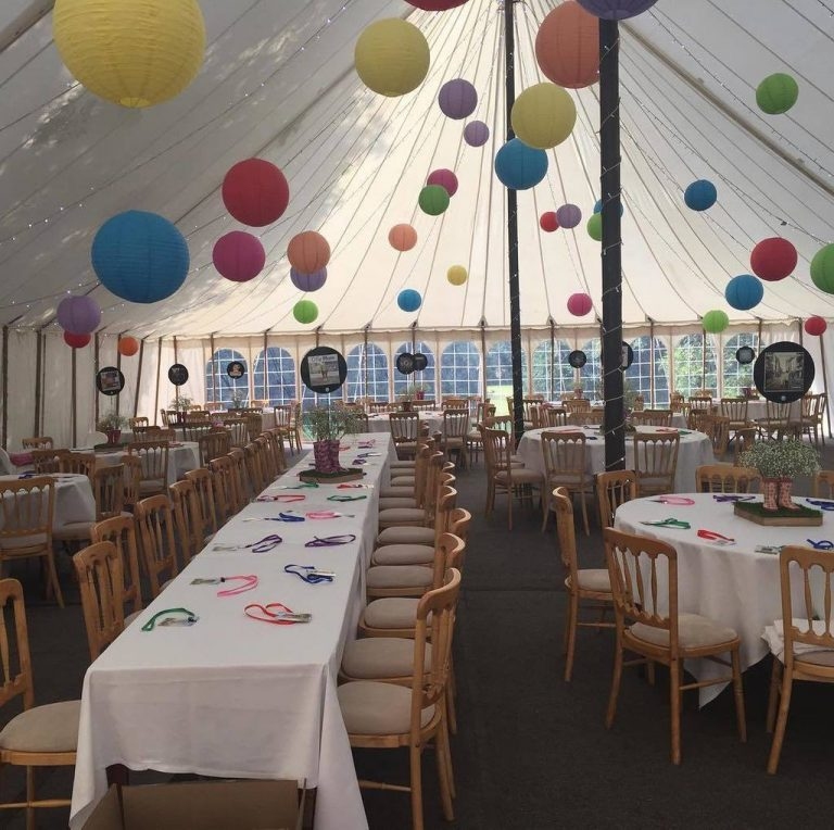 Tables in marquee