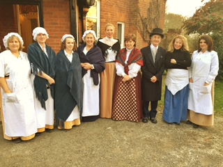 Cardfields staff in Victorian Christmas