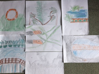 Collage of art work by children
