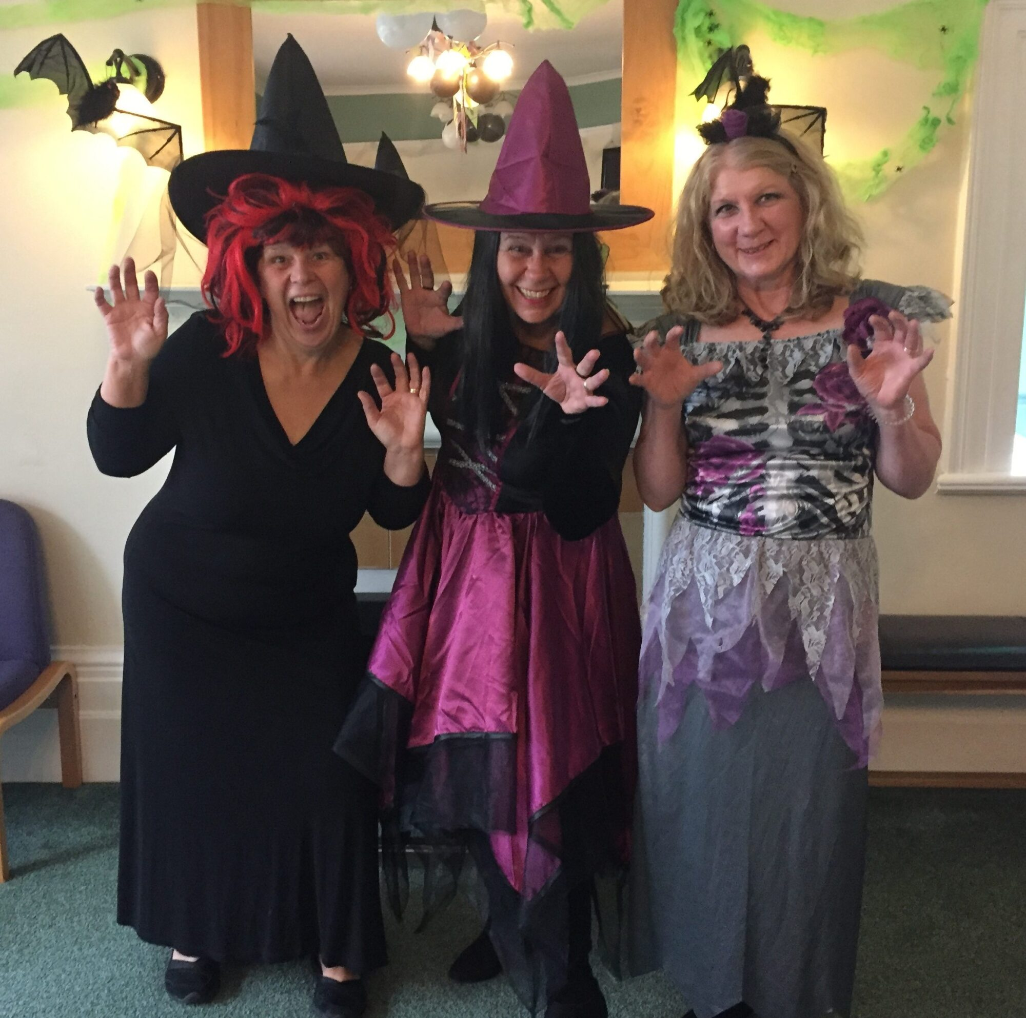 Cardfields staff dressed in Halloween outfits