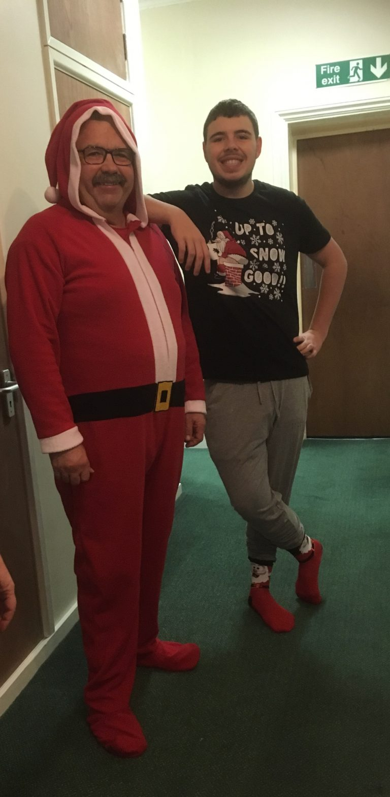 Cardfields staff dressed as Father Christmas